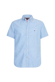 Slim Cotton Linen Sh Skjorte