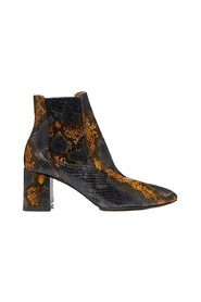 Beta Umber snake effect leather boots