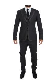 Striped 3 Piece Slim Suit Tuxedo