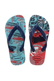 Havaianas - Klipklapper, Kids Top Cars - Blue