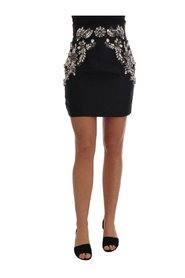 Brocade Crystal High Mini Skirt