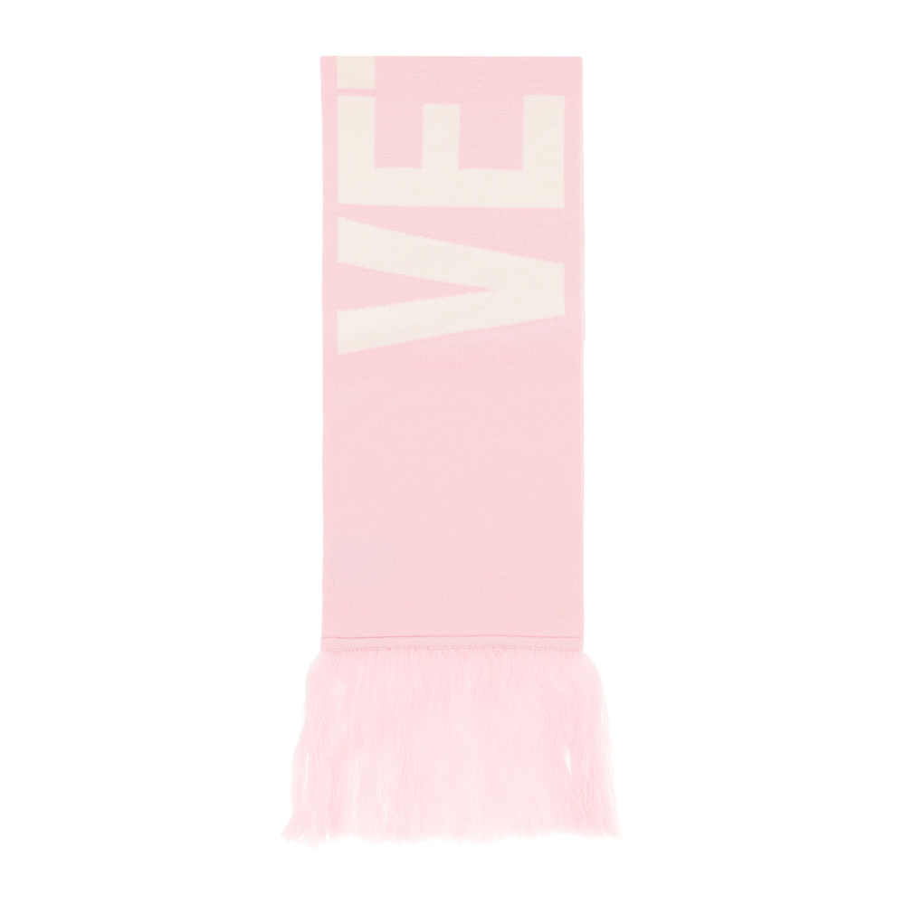Reversible scarf with maxi logo