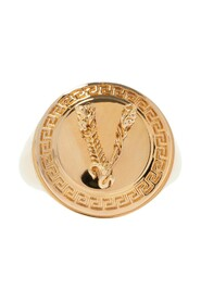 Signet ring with logo