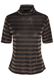 Stripe Mesh tee sort/guld - Co'cout