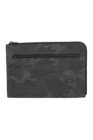Camouflage Leather Clutch Bag