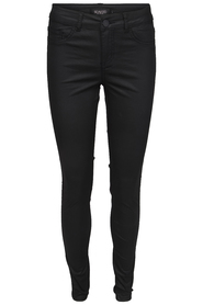 Soaked in Luxury Byxor Leia Coated Jeggins Black