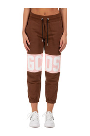 women's sport tracksuit trousers  logo band