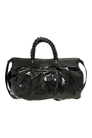 Braided Patent Leather Satchel