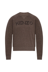 Logo-printed sweater