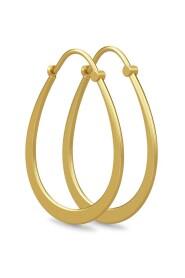 Classic Pear Hoop Earrings