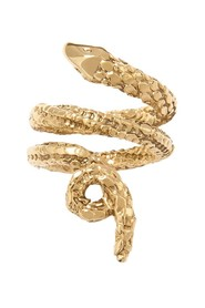Tao gold plated snake ring