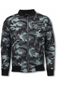 Camouflage Print With 3 Zippers