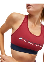TOMMY SPORT S10S100072 SPORTS BRA MEDIUM TOP AND BODY LONGWEAR Women RED