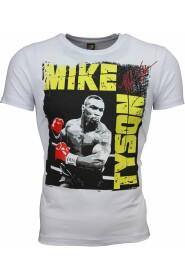 T-Skjorte - Mike Tyson Glossy Print