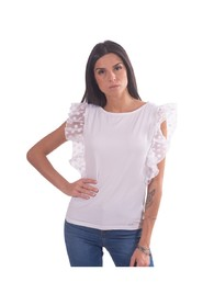 T-Shirt With Sleeve With Rouches
