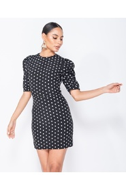 Polka Dot Puffed - Bodycon Mini Dress
