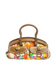 Pre-owned  Floral Fabric and Leather Detective Satchel