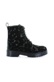 STOKTON SVART VELVET BOOTS WITH SEQUINS
