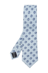 Silk tie with logo