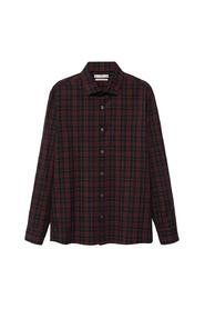 Regular fit checked flannel shirt