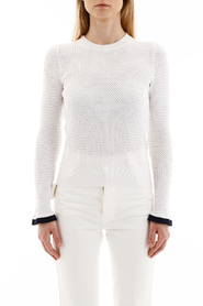 perforated knit top