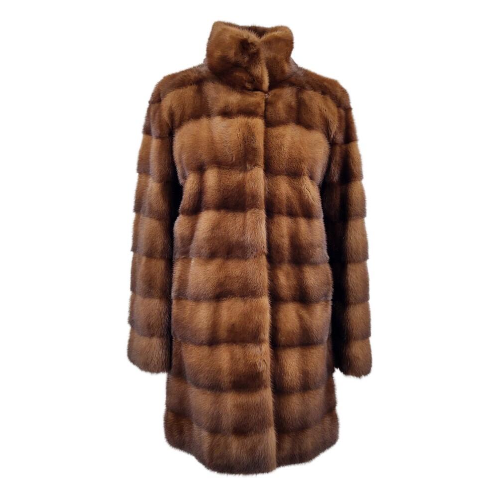 brown ABADINE RACOON Jacket  LUXURY  Pelsjakker