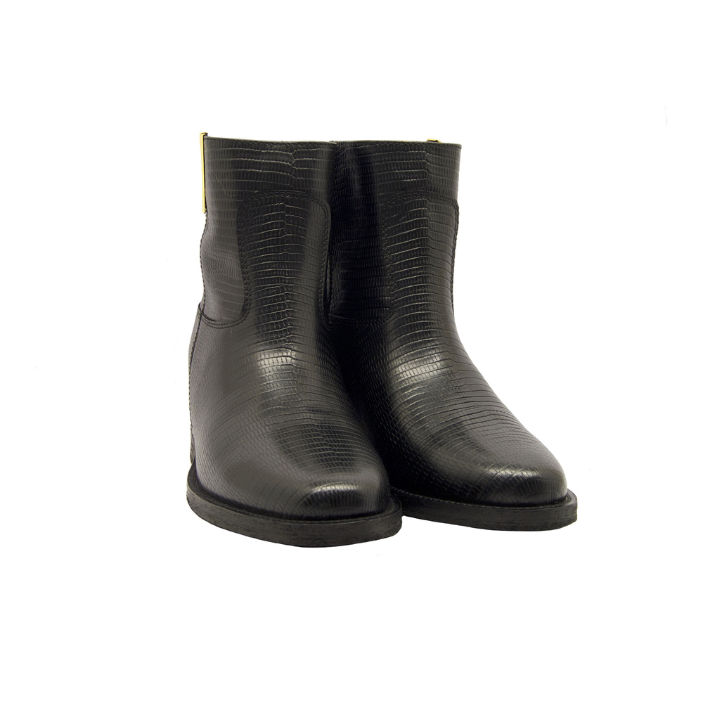 Via Roma 15 Black LEATHER BOOTS Via Roma 15