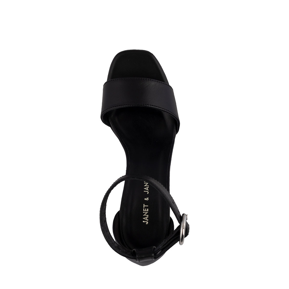 Black ATENA SANDAL | Janet & Janet | High Heel Sandals | Women's shoes