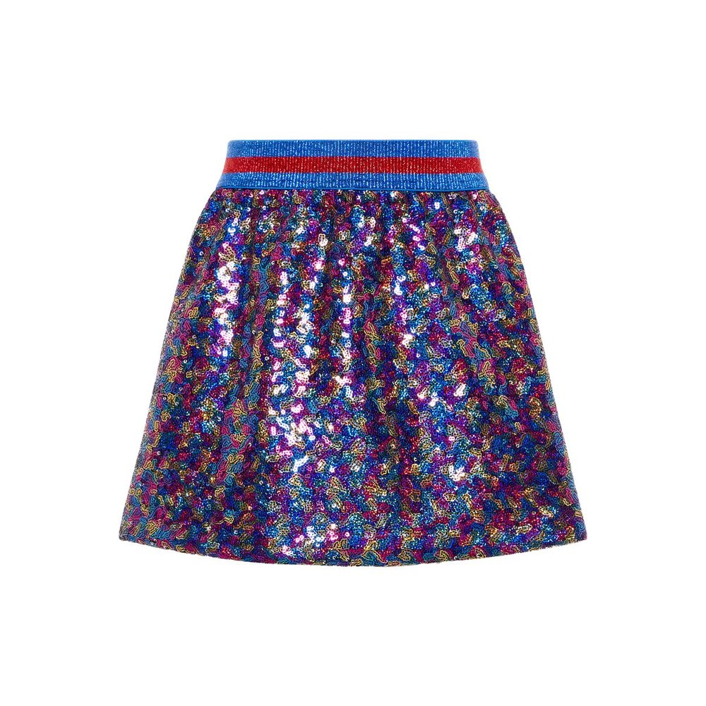 Skirt multi coloured sequin