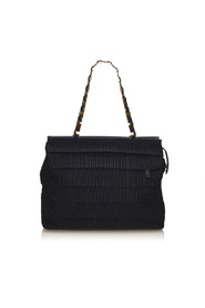 Tiered Grosgrain Chain Tote