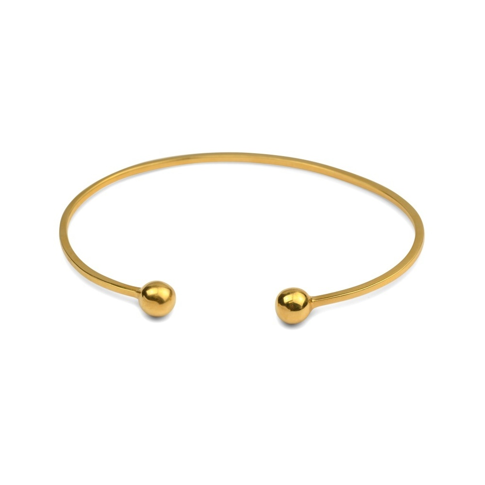 Strict plain bangle ball gold - Syster P