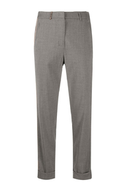 Tapered trousers with side stripes
