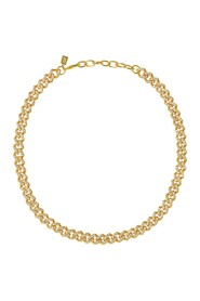 Mexican Chain in Gold Plated Brass and Crystals