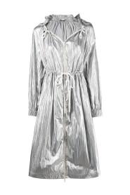 Veste métallisée à capuche
