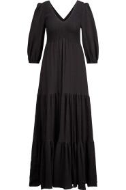 Oversized-Baumwollkleid mit breiten Volants