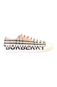 Logo print canvas sneakers