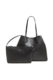 LARGE VIKKY FAUX LEATHER TOTE