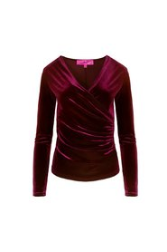 Camilla Thulin Louise Top Wine Red Sammet
