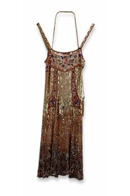 Sequin Embellished Cami Dress Set with Bag