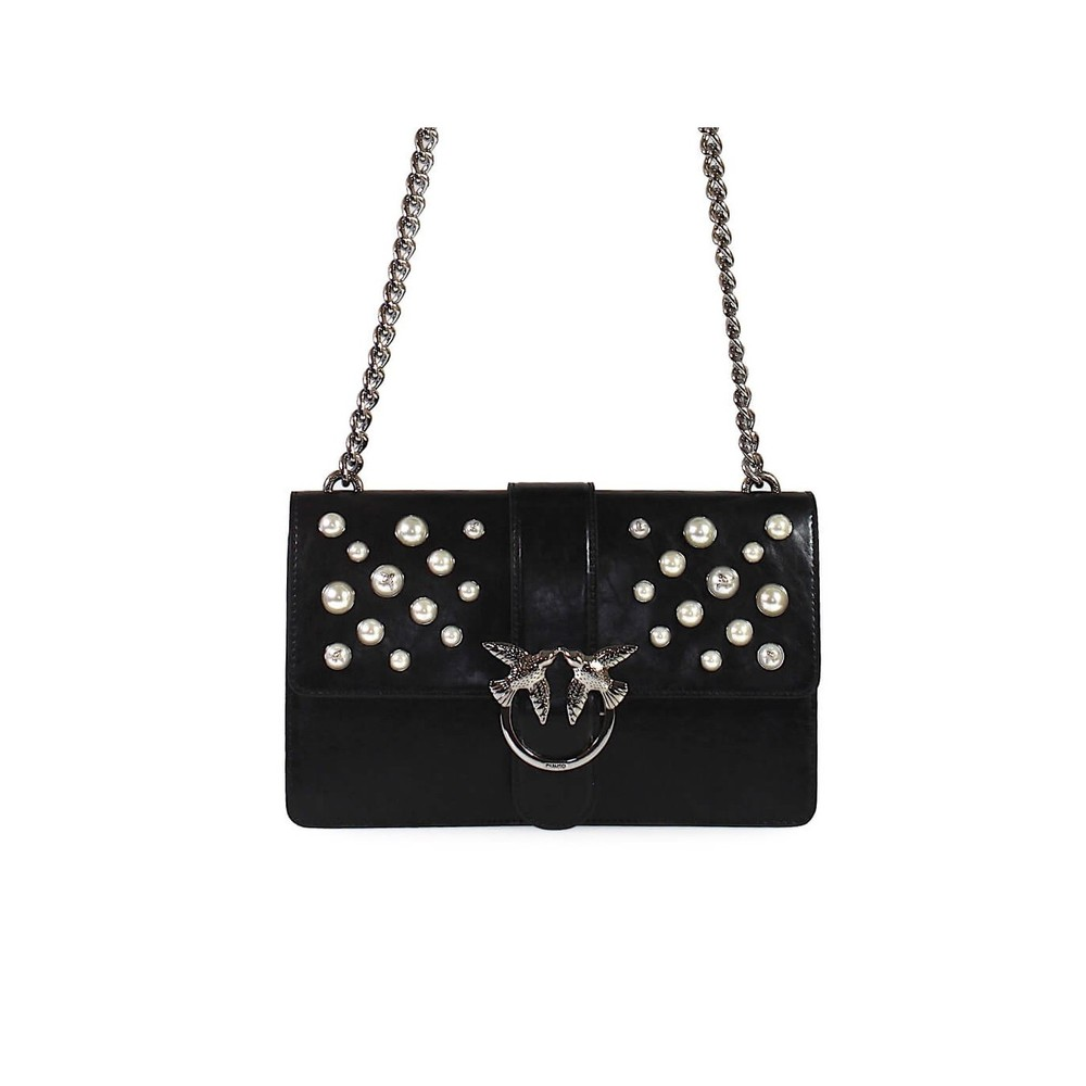LEATHER PEARLS LOVE BAG