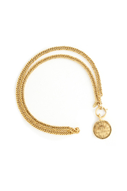 Rue Cambon Coin Long Link Necklace