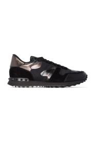 Metaliczne sneakersy z motywem kamuflażu Rockrunner