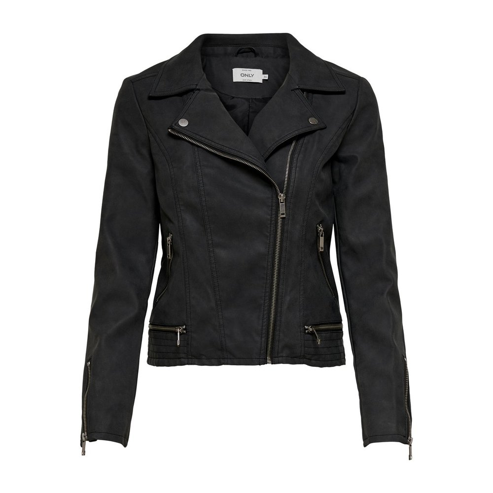 Faux Leather Jacket Biker