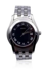 Używane Srebrny zegarek kwarcowy Mod 5500 M ze stali nierdzewnej