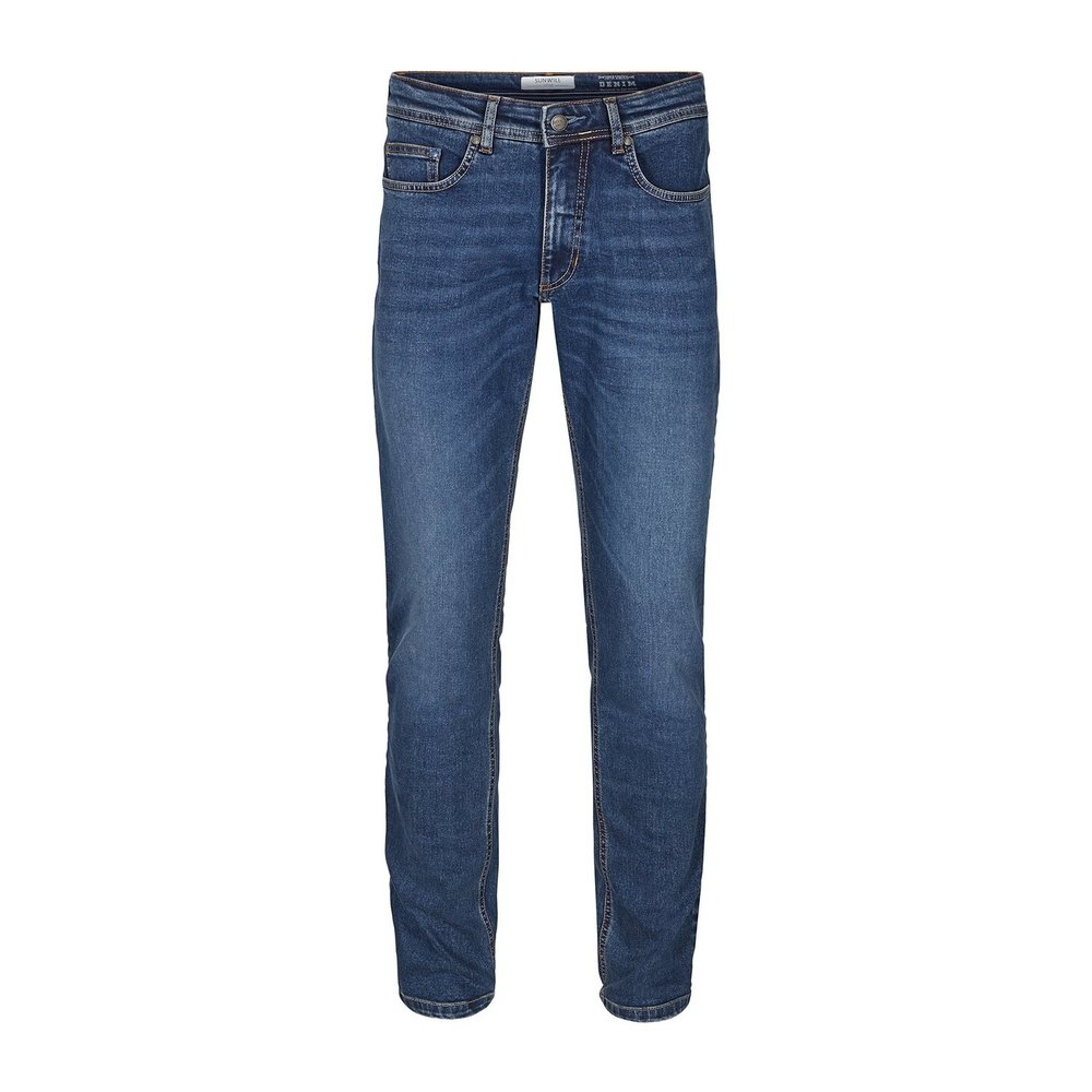 Jeans Fitted fit Dark used wash