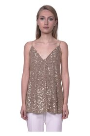 Flared sequin top
